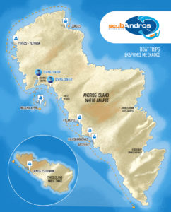Boat trips in Andros Island